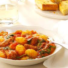 Pumpkin Gnocchi Recipe by Sausage Spinach And Gnocchi Recipe Taste Of Home