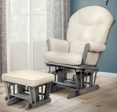 Shermag Rocking Chair Assembly by Shermag Valencia Glider And Ottoman Set Grey Cream Fabric