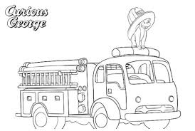 100 Fire Truck Song Coloring Page Of Printable Coloring Page For Kids