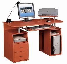 Techni Mobili Computer Desk With Side Cabinet by Techni Mobili Complete Computer Workstation Dark Honey Walmart Com