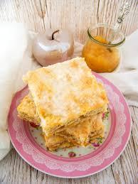 einfacher blechkuchen mit apfelmus