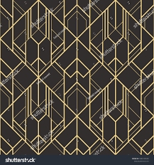 100 Art Deco Shape Vector Modern Geometric Tiles Pattern Golden Stock Vector Royalty