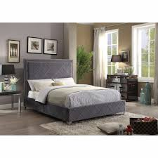 Meridian File Cabinets Remove Drawers by Furniture Hampton Grey Velvet Queen Bed Hamptongrey Q