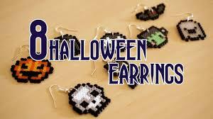 Halloween Perler Bead Patterns by Diy Halloween Earrings Perler Hama Beads Tutorial Original