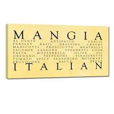 Great Gift For The Italian Kitchen Mangia Ready To Hang Wall Word Art Home
