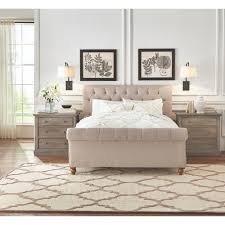 White King Headboard And Footboard by Beige King Beds U0026 Headboards Bedroom Furniture The Home Depot