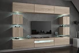 furnitech future c81 wohnzimmer wandschrank mediawand mit led beleuchtung schrankwand wohnwand möbel c81 hg w2 1a 257 cm möbel ohne led