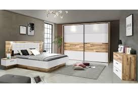 2 teiliges schlafzimmer set stabeiche weiß