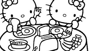 Hello Kitty Printable Coloring Page