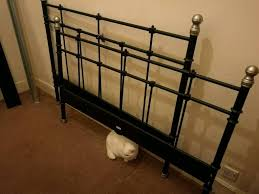 Svelvik Bed Frame by Ikea Svelvik Black Metal Bed Frame Double Bed In Gorgie