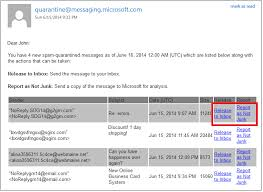 Email Review Your Quarantined Messages from an EOP Spam
