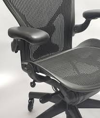 Herman Miller Aeron Chair Fully Featured With Posturefit Size B FREE  Leather Arm Pads, FREE Rollerblade Casters, FREE Headrest Herman Miller Aeron Remastered Chair Review Classic Size B Posture Fit Size As A Remodel Of Mirra Chairs Recline Further Than Its Model Nickel Office Outlet Arm Removal Office Chair Pneumatic Gas Cylinder 7 Quot Certified Preowned Stool Counter Height Cj Living Eames Lounge And Ottoman On Risd Portfolios Quivellum Lounge Fniture Sensational Chairs Costco For Home