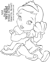 Disney Baby Ariel Coloring Pages Images Pictures