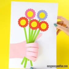 3 Flowers In Hand Cute Handprint Flower Craft For Kids