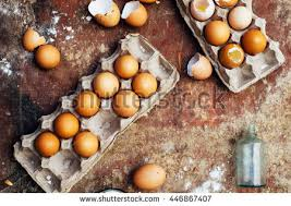 Baking Cake Ingredients Bowl Flour Eggs Stock Photo 446867407
