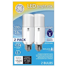 ge led 100watt bright stik light bulb 2pk daylight target