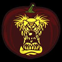 Clown Pumpkin Template by Evil Clown 01 Pumpkin Stencil Evil Scary Things Stencils