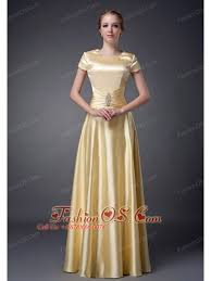 Fashionable Light Yellow Empire Scoop Neckline Mother Of The Bride Dress Beading Floor Length