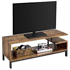 yaheetech fernsehtisch tv schrank lowboard tisch fernsehschrank tv board 106 x 39 5 x 40 cm