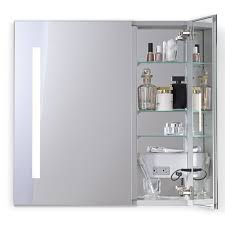 robern aio series two door lighted medicine cabinet rack cabinets