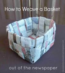 Craft Ideas Newspaper And For Kids With Step By Rhthevirginercom How To Make Basket