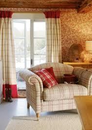 Cream And Raspberry Tartan Sitting Room