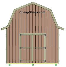 6 X 8 Gambrel Shed Plans by Tall Gambrel Barn Style Sheds