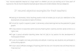 Teacher Resume Example Objective Statement For Examples Elementary Teaching