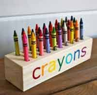Easy Scrap Wood Crayon Or Pencil Block Holder