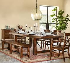 Benchwright Extending Dining Table Bench Set