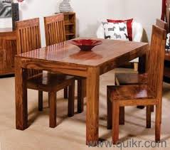 4 Seater Brand New Solid Sheesham Wood Dining Table Set For Sale