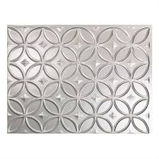 Fasade Decorative Thermoplastic Panels Home Depot by Fasade 24 In X 18 In Rings Pvc Decorative Backsplash Panel In