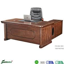 China Antique Walnut Color Wooden Executive Office Desk With ...