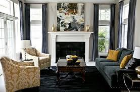 déco canapé noir déco deco salon jaune gris canape noir décoration intérieur