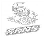 Printable Ottawa Senators Logo Nhl Hockey Sport Coloring Pages