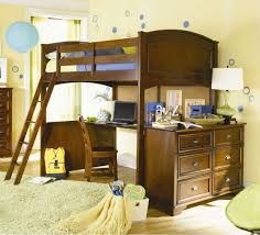 Low Loft Bed With Desk And Dresser by Bedroom Blue Polished Metal Loft Bed With Ladder And Brown