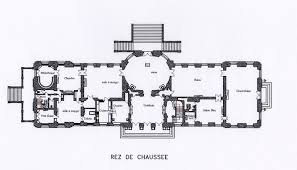 Chateau Floor Plans Chateau De Chlatreux Ground Floor Plan Architectural