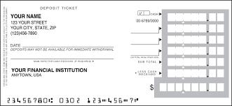 Deposit Tickets Checking Account Accessories Checks Deposit Slips