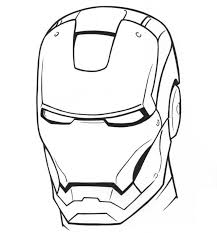 Monster Iron Man Mask Colouring Pages