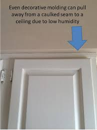 Hairline Cracks In Ceiling Paint by Painted Kitchen Cabinets Effects Of Dry Winter Air And Then