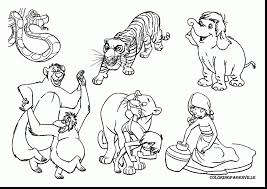 Unbelievable Jungle Book Coloring Pages With And Printable