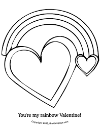 Chic Design Coloring Page Of A Rainbow Cartoon Pages For Toddlers