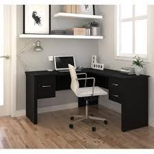 bestar somerville l shaped desk in black beyond stores