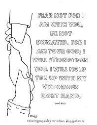 Coloring Pages For Kids By Mr Adron Printable Bible Verse Page Isaiah 41