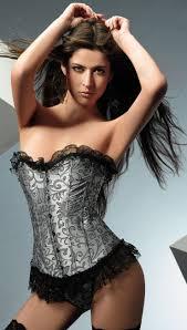 silver brocade corset n2063