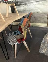 patchwork design schalen polsterstuhl esszimmer bunt neu