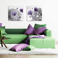 glasbild 50x50cm wohnzimmer blumen abstrakt