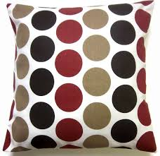 Red Decorative Lumbar Pillows by Reserved For Sara Two Dark Brown Red Tan White Pillow Covers Large