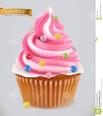 Cupcake Fairy Cake 3d Realistic Vector Icon