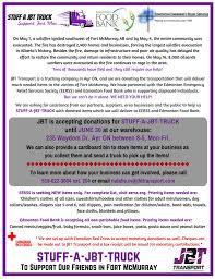 Stuff-a-JBT-Truck Campaign Flyer | JBT Transport